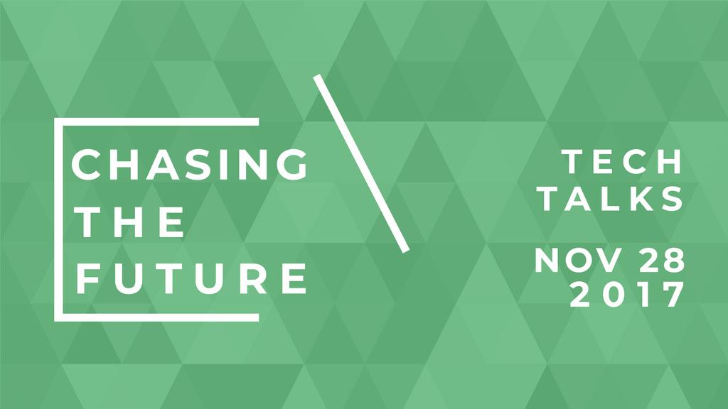 Tech Event invitation on green pattern — Crear un diseño