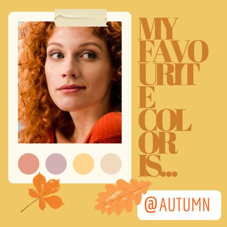 Autumn Inspiration with Redhead Woman Instagram – шаблон для дизайну