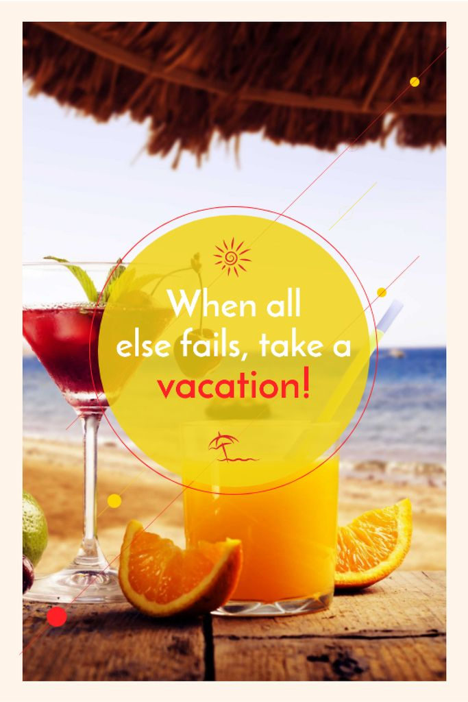 Vacation Offer Cocktail at the Beach — Créer un visuel