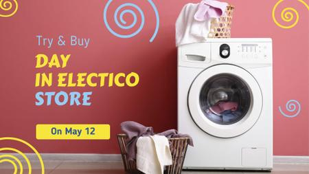 Appliances Offer Laundry by Washing Machine FB event coverデザインテンプレート