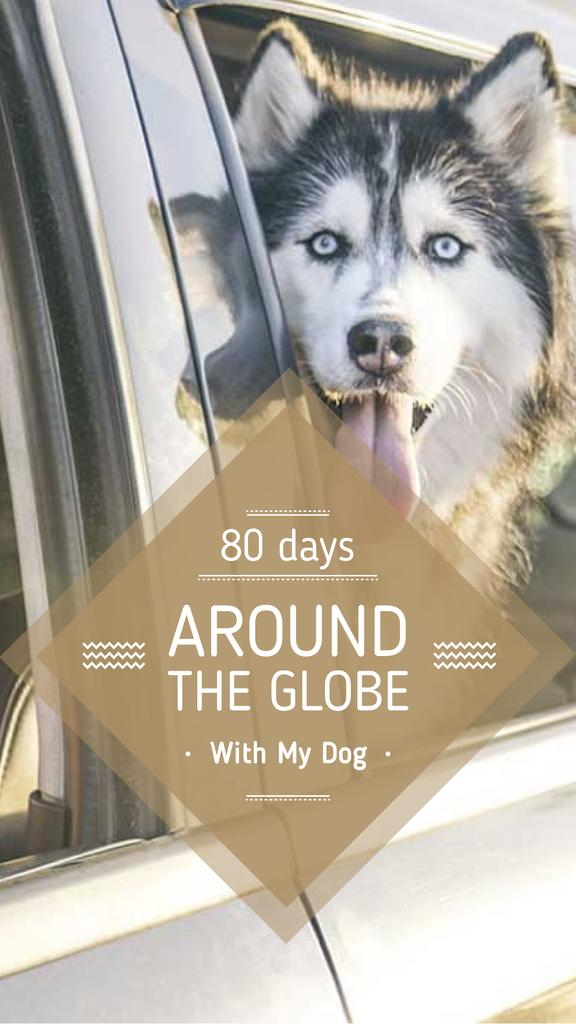 Travelling with Dog in Car Instagram Story Design Template