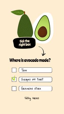 Designvorlage Organic Shop Offer with Avocado Illustration für Instagram Story