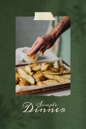 Man cooking Baked Potato Pinterest – шаблон для дизайна
