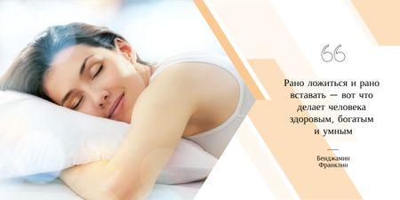 Woman sleeping in bed Image – шаблон для дизайна