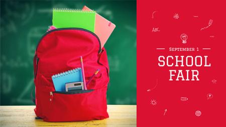 Plantilla de diseño de Back to School Fair Announcement FB event cover
