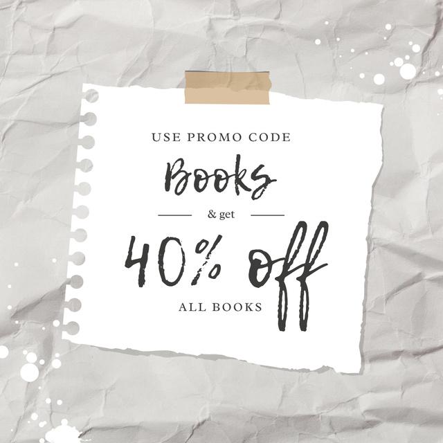 Designvorlage Special Book Offer with Discount für Instagram AD