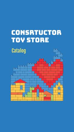 Designvorlage Construction Toys Store Offer für Instagram Story