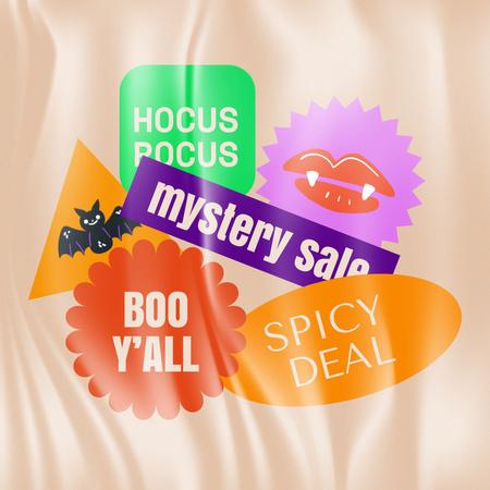 Mystery Sale on Halloween Announcement Animated Post – шаблон для дизайна