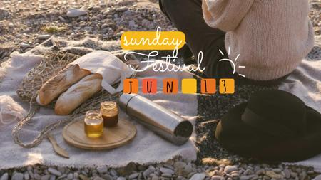 Ontwerpsjabloon van FB event cover van Picnic at Sunset beach