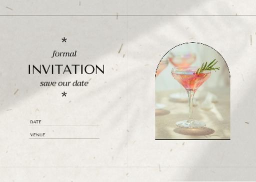 Wedding Day Announcement With Summer Cocktail
