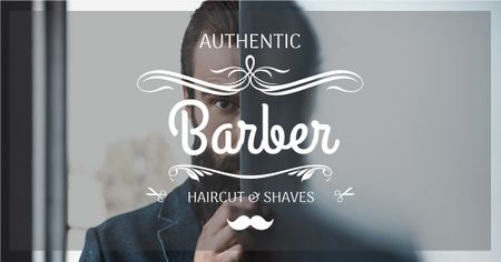 Szablon projektu Advertisement for barbershop with Barber Facebook AD