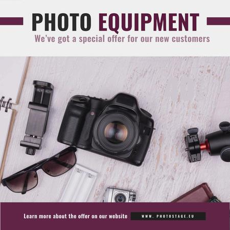 Template di design Dslr Camera and Photo Equipment Animated Post