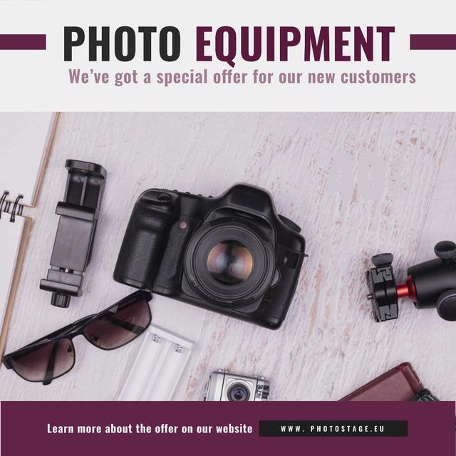 Dslr Camera and Photo Equipment Animated Post – шаблон для дизайна