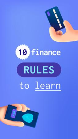 Designvorlage Finance Rules with Banking application für Instagram Story