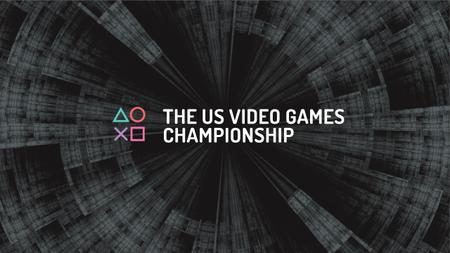 Plantilla de diseño de Video games Championship Announcement Youtube