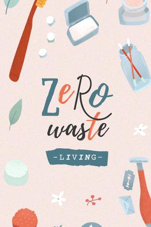 Modèle de visuel Zero Waste Concept with Eco Products - Pinterest