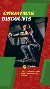 Christmas Offer Woman Squating in Gym