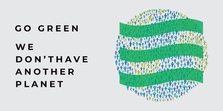Citation about green planet Twitter – шаблон для дизайну