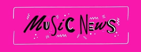 Music News ad in Pink Facebook cover – шаблон для дизайну