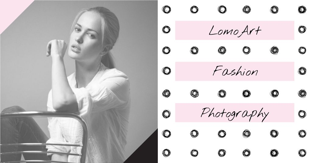 Fashion photography Ad with Woman posing — Створити дизайн