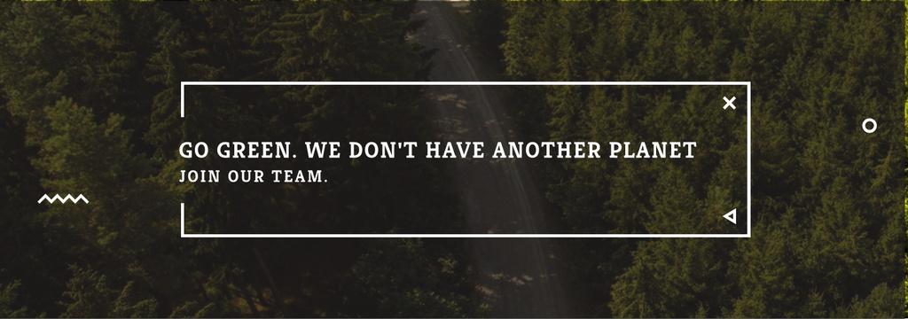 Plantilla de diseño de Ecology Quote with Forest Road View Tumblr