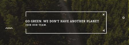 Ecology Quote with Forest Road View Tumblr Modelo de Design