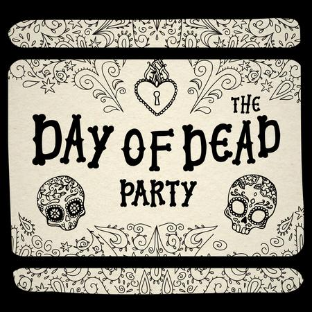 Day of the Dead Party Announcement with Floral Skulls Animated Post – шаблон для дизайна