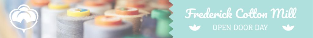 Clothing Industry Spools Colorful Thread Leaderboard – шаблон для дизайна