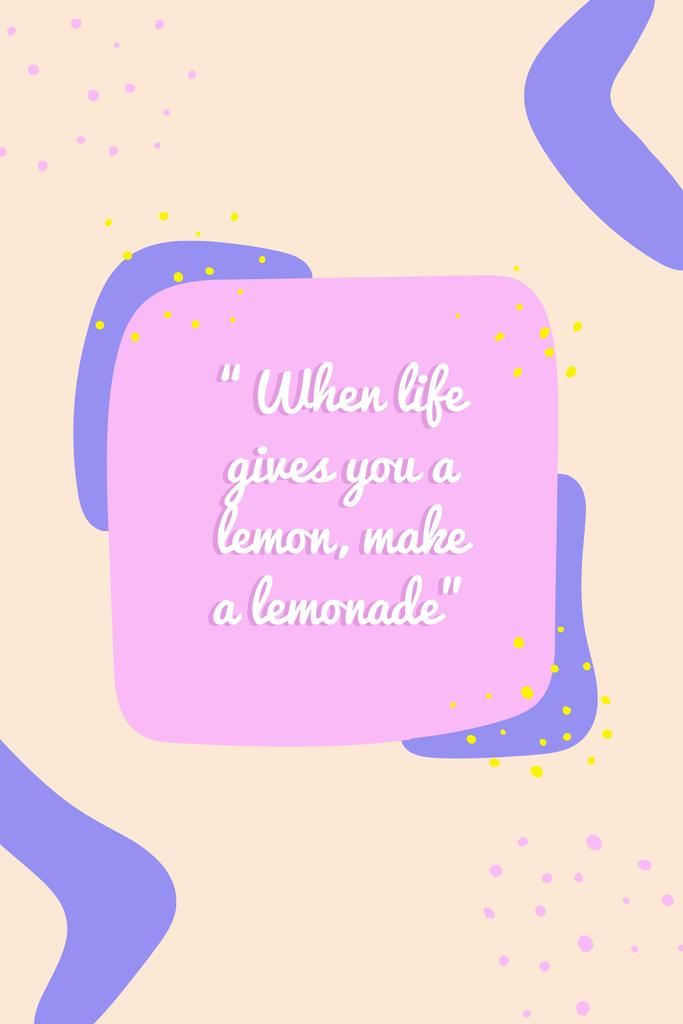 Template di design Inspirational Quote on Bright Pattern Pinterest