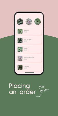 Flowers Order on Phone Screen Graphic – шаблон для дизайна