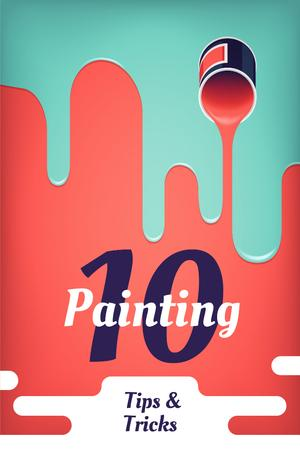 Plantilla de diseño de Painting tips and tricks Pinterest