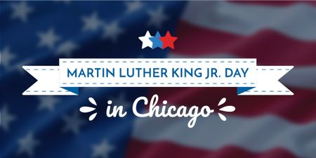 Ontwerpsjabloon van Image van Martin Luther King Day Greeting with Flag