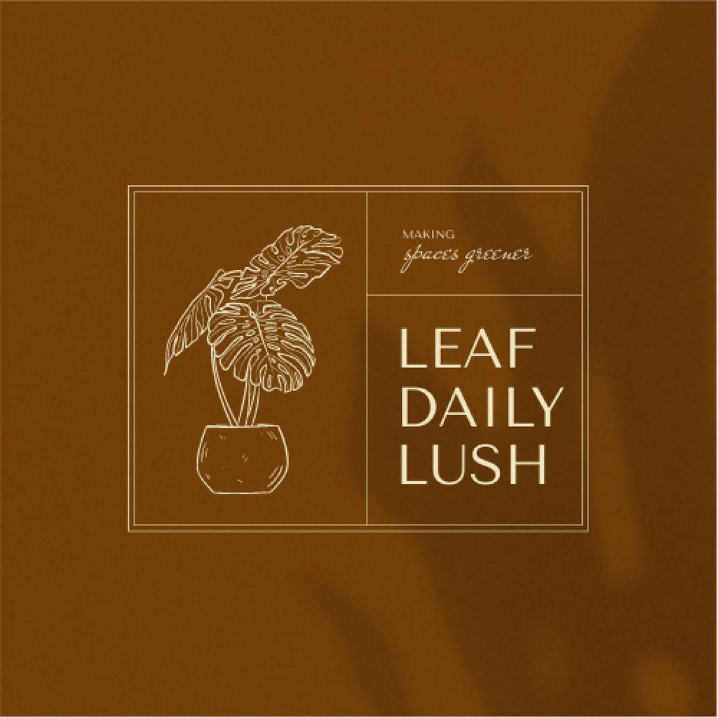 Plants Store Offer with Flowerpot Illustration Logo – шаблон для дизайну