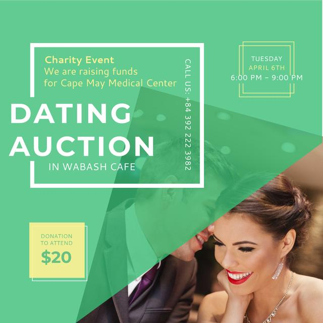 Dating Auction with Smiling Woman Instagram Tasarım Şablonu