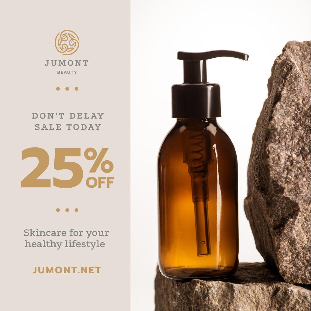 Cosmetics Ad Skincare Products Bottle — Crear un diseño