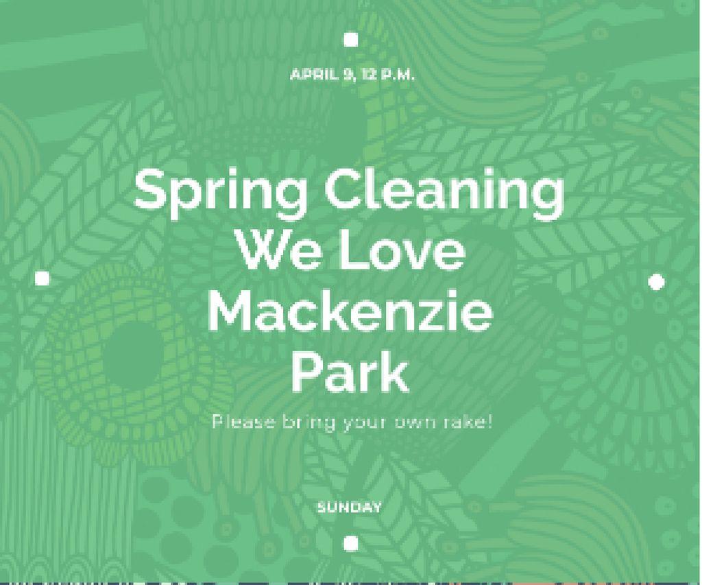 Spring cleaning in Mackenzie park Medium Rectangle – шаблон для дизайна