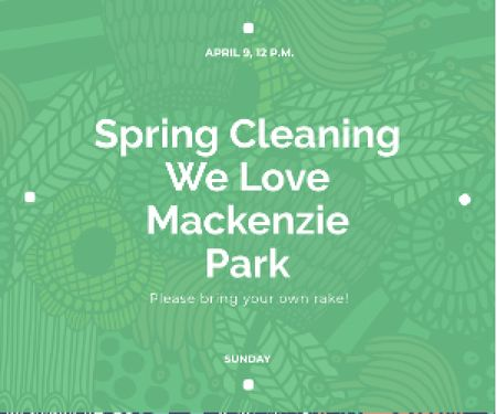 Spring cleaning in Mackenzie park Medium Rectangle Design Template