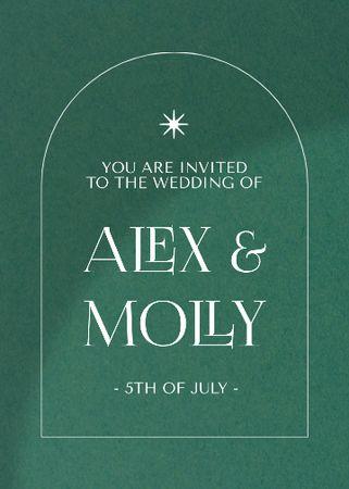 Template di design Wedding Day Announcement on Green Invitation