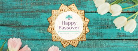 Happy Passover Table with Unleavened Bread Facebook Video cover Modelo de Design