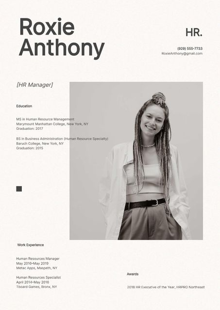 HR manager skills and experience Resume – шаблон для дизайна