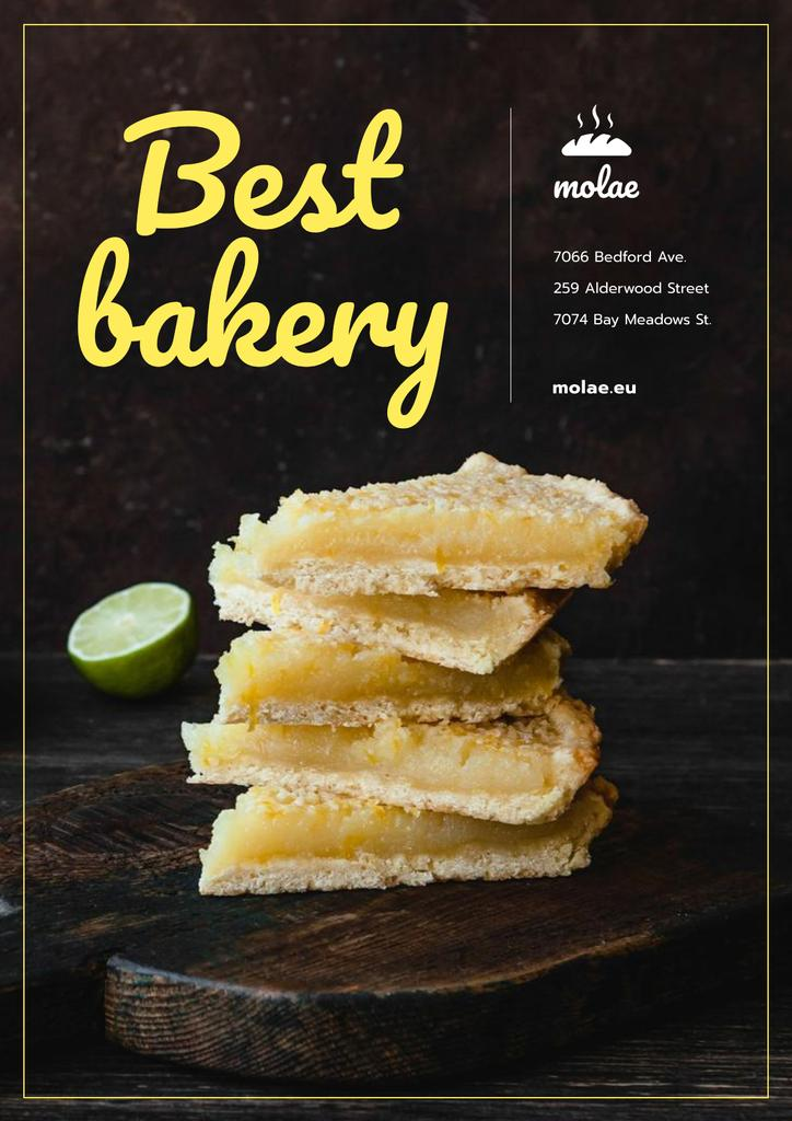 Bakery Ad with Sweet Pie with Lime — Maak een ontwerp