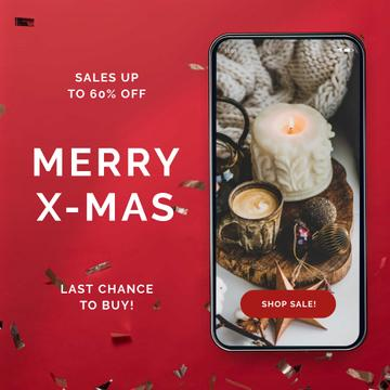 Christmas Sale on Phone screen