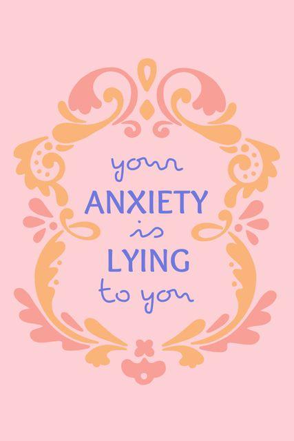 Szablon projektu Mental Health Inspirational Citation Tumblr