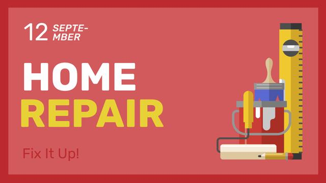 Szablon projektu Home Repair Ad with Tools illustration FB event cover