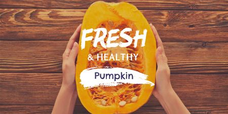Modèle de visuel Woman holding Fresh Sliced Pumpkin - Twitter