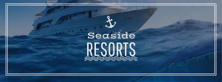 Seaside Resorts Promotion Ship in Sea Facebook cover – шаблон для дизайну