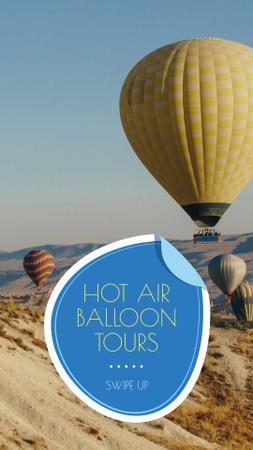Designvorlage Hot Air Balloon Flight Offer für Instagram Story