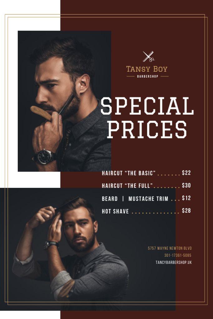 Szablon projektu Barbershop Ad with Stylish Bearded Man Tumblr