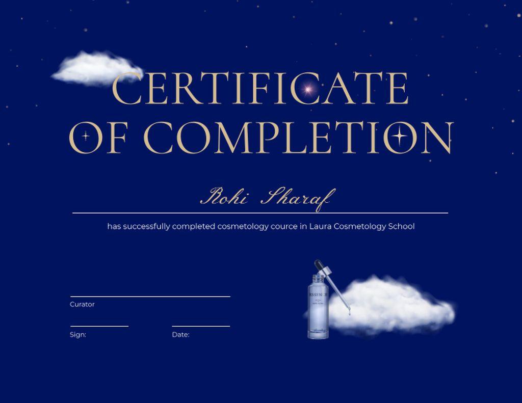 Template di design Beauty Course Completion Award Certificate