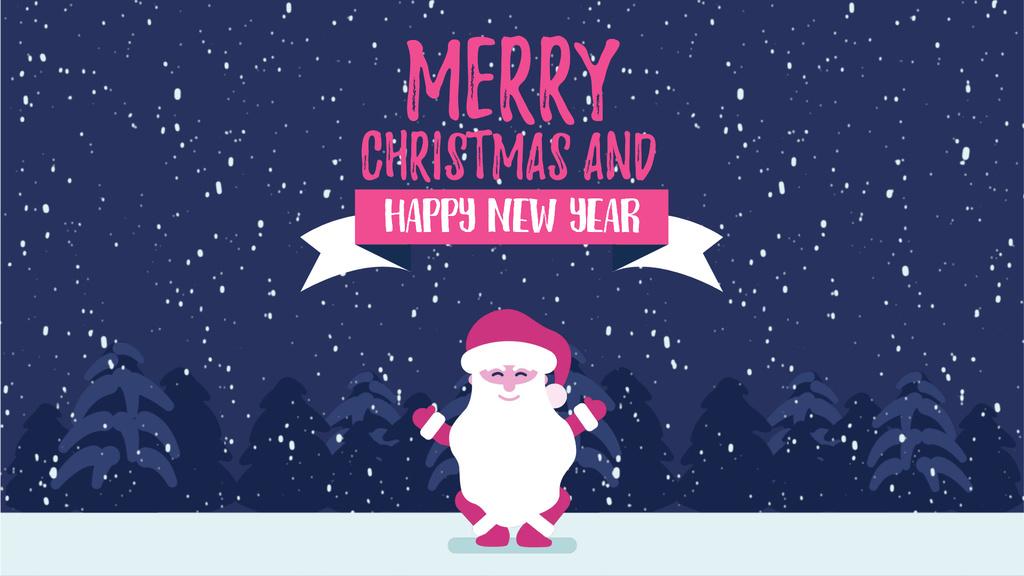 Christmas Greeting Funny Jumping Santa Claus — Crea un design